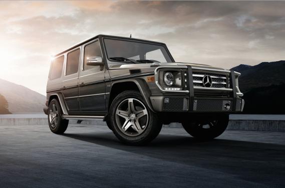 <strong>La voiture de ses rêves</strong>Un utilitaire Mercedes-Benz classe G (ci-haut) et une Mercedes-Benz GT AMG. (Photo : Mercedes-Benz)