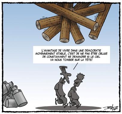 Caricature du 29 avril (Le Droit, Guy Badeaux)