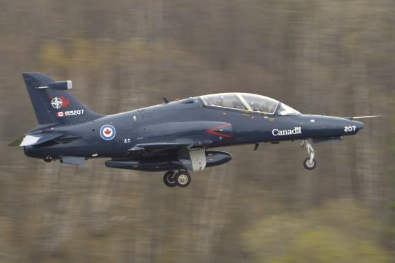 Un Hawk CT-155 de l'aviation canadienne (Martin Roy, Le Droit)