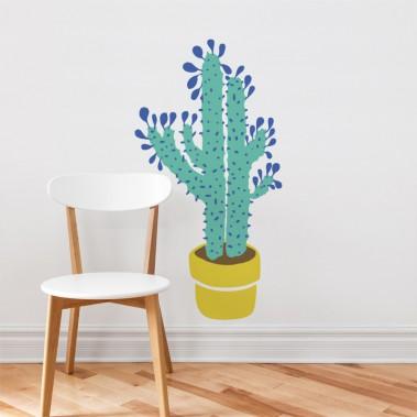 ADZIF - Cactus toujoursAppliqué mural de l'artiste peintre québécoise, Gabrielle Laïla Tittley. <br />Dimension assemblé tel qu'illustré: 23 po x 44 po ()