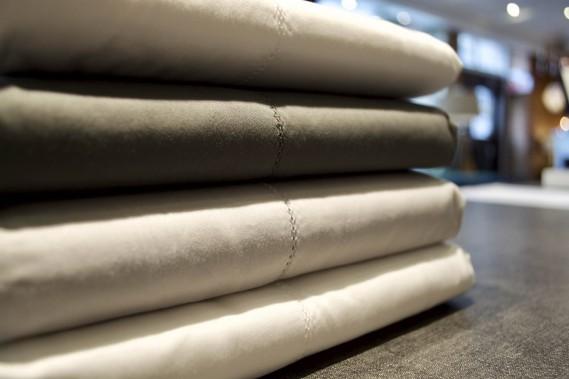 Draps de coton égyptien du Portugal, 400 fils au pouce Au Loft (fournie par Au Loft)