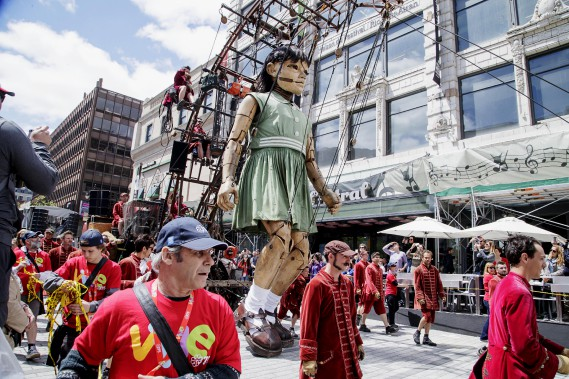 La Petite Géante en plein centre-ville. (La Presse)