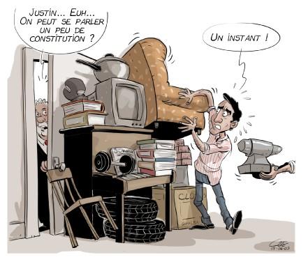 Caricature du 3 juin (Le Soleil, André-Philippe Côté)