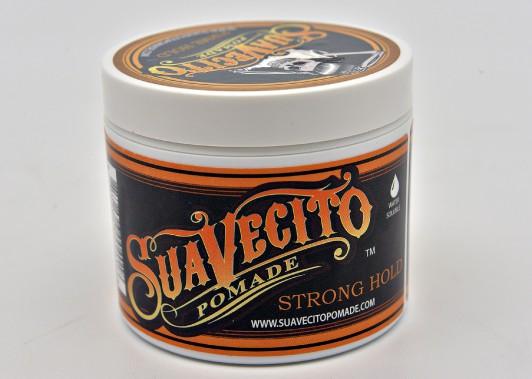 <strong>Pommade à tenue ferme </strong>de Suavecito (17,50$, 113 g) (Le Soleil, Patrice Laroche)