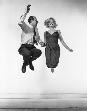 Le photographe Philippe Halsman et l'actrice Marilyn Monroe. ()