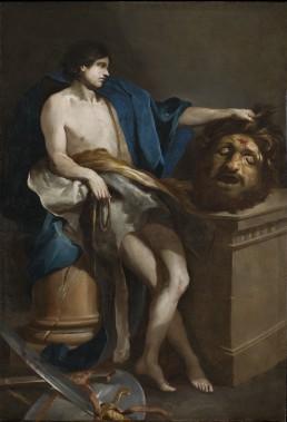 <i>David contemplant la tête de Goliath,</i> 1671. ()