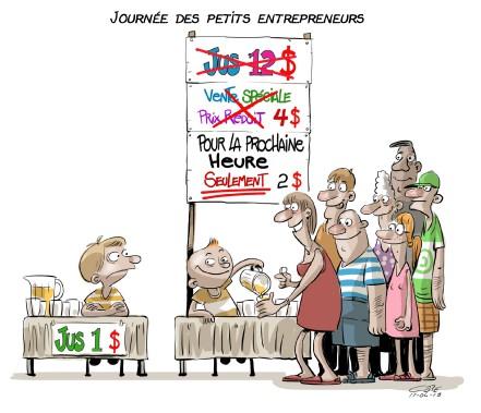 Caricature du 18 juin (Le Soleil, André-Philippe Côté)