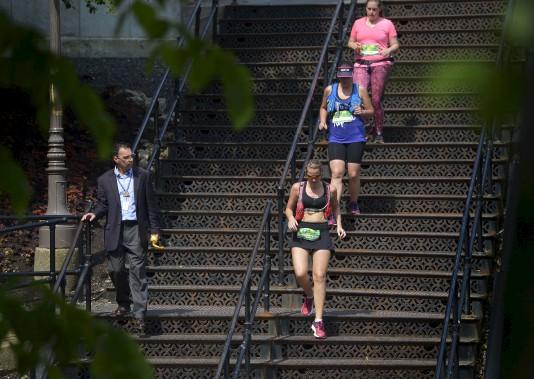 L'escalier Charles-Baillairgé (Le Soleil, Yan Doublet)