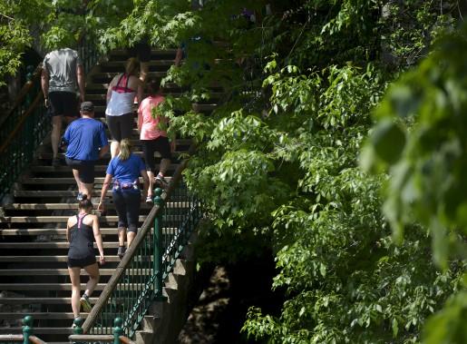 L'escalier Frontenac (Le Soleil, Yan Doublet)
