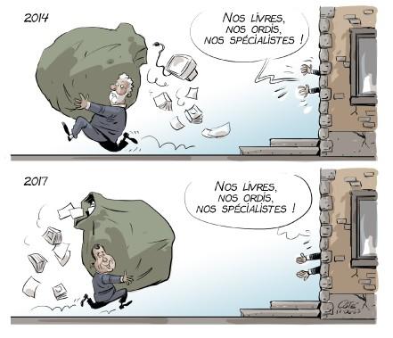 Caricature du 23 juin (Le Soleil, André-Phiippe Côté)