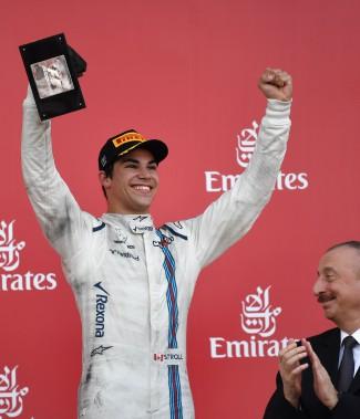 Le Québécois de 18ans est le plus jeune pilote de F1 à monter sur le podium. (PHOTO ANDREJ ISAKOVIC, AGENCE FRANCE-PRESSE)