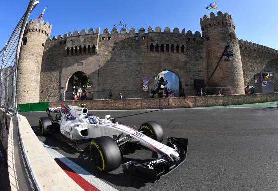 Le Grand Prix d'Azerbaïdjan s'est déroulé à Bakou. (PHOTO ALEXANDER NEMENOV, AGENCE FRANCE-PRESSE)