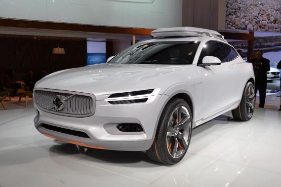 Le prototype Coupé XC, montré par Volvo au Salon de l'auto de Détroit le 13 janvier 2014. Le XC était un des précurseurs de la XC-90 hybride branchable. (AFP)