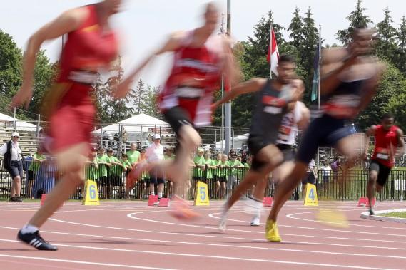 Championnats canadiens d'athlétisme. (PATRICK WOODBURY, Le Droit)
