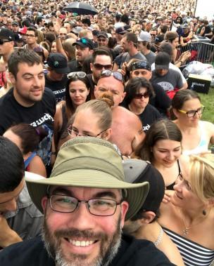 Un égoportrait de @dburton70 en attendant le spectacle de Metallica (@dburton70)