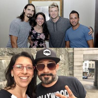 @aline_diegas en compagnie des Backstreet Boys, on se doute bien qu'elle a fait quelques jalouses ! (@aline_diegas)