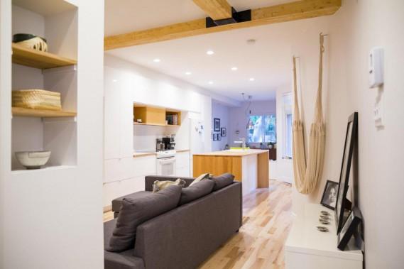 La salle de séjour chez Elizabeth et Jeanne (photo Marie-Christine Gobeil, collaboration spéciale)
