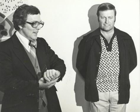 Avec Marcel Aubut (à droite) en 1977 (Archives Le Soleil)