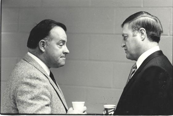Avec Scotty Bowman (à gauche) en 1983 (Archives Le Soleil)