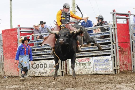 Les cowboys ont dompté la bête, samedi. (Gimmy Desbiens)