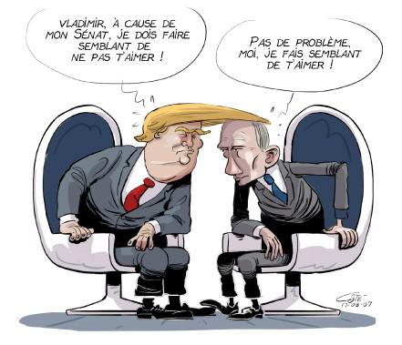 Caricature du 7 août (Le Soleil, André-Philippe Côté)