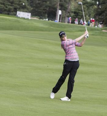 La Québécoise Maude-Aimé Leblanc effectuera un retour à la compétition sur le circuit de la LPGA jeudi, lors de la première ronde de l'Omnium canadien CP au club Ottawa Hunt. (Simon Séguin-Bertrand, Le Droit)
