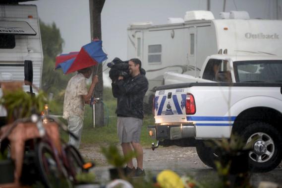 Les médias travaillent dans des conditions inhospitalières. (AP)