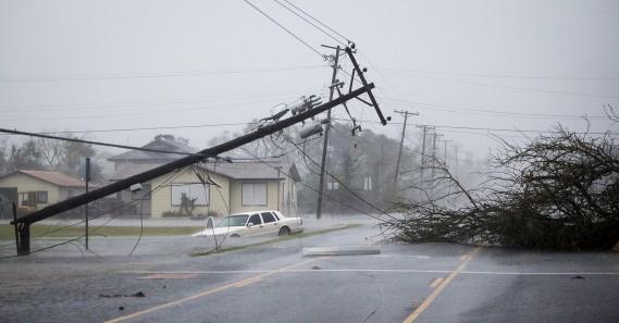 <em>Harvey</em> a frappé très fort à Rockport. (Nick Wanger/Austin American-Statesman via AP)