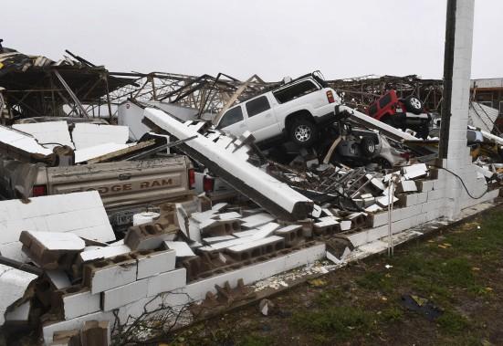 Une scène de désolation à Rockport (AFP,  MARK RALSTON)