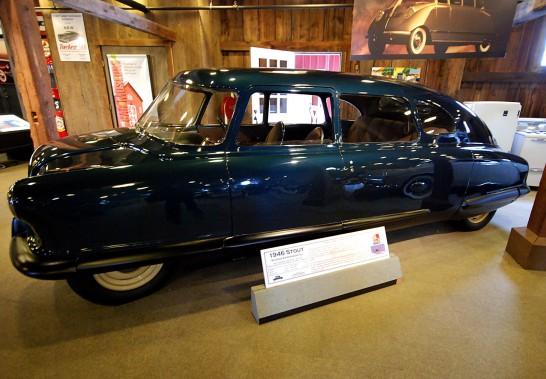 Cette Stout Scarab exposée au Gilmore Car Museum de Hickory Corners, au Michigan, est un des neuf exemplaires qui ont été assemblés. (Photo : Photosin)