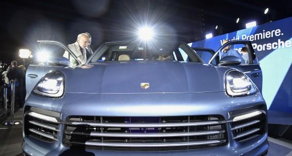 Le Porsche Cayenne 2019 lors de son dévoilement à Stuttgart, en Allemagne. (Photo : AFP)