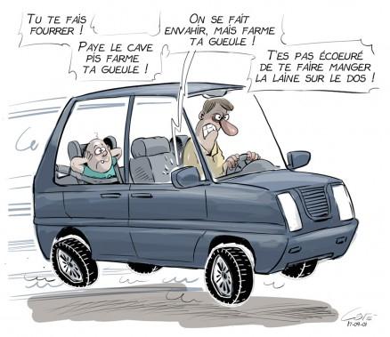 Caricature du 1er septembre (Le Soleil, André-Philippe Côté)