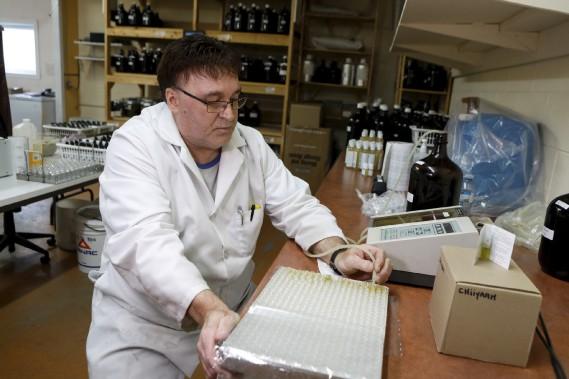 Steve Blouin Gros-Louis est technicien à la production. (Le Soleil, Caroline Grégoire)
