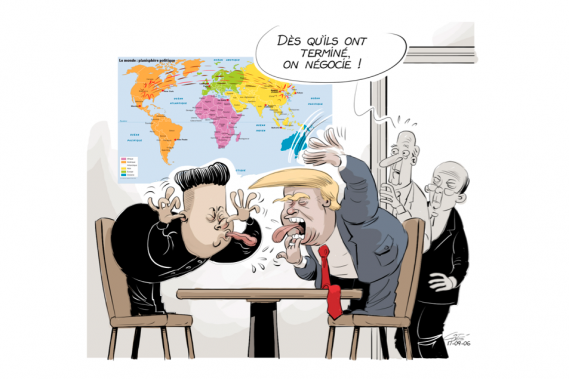Caricature du 6 septembre (Le Soleil, André-Philippe Côté)