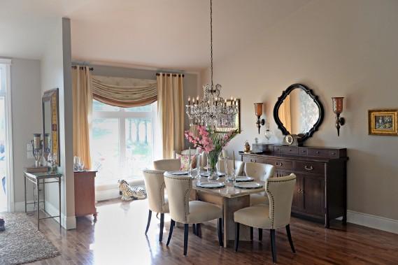 La salle à manger est située à l'avant de la résidence. (Le Soleil, Pascal Ratthé)