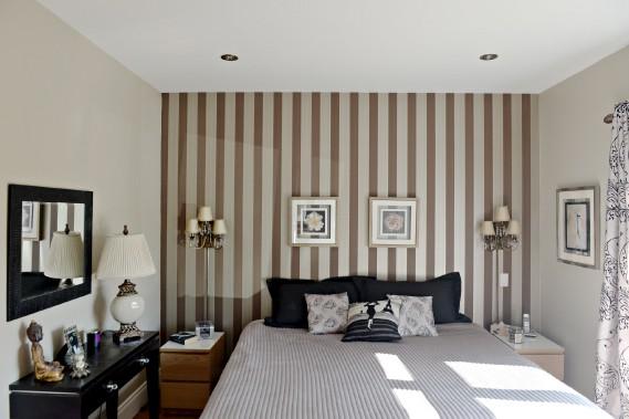 La chambre des invités, à l'avant, bénéficie d'une belle luminosité. (Le Soleil, Pascal Ratthé)