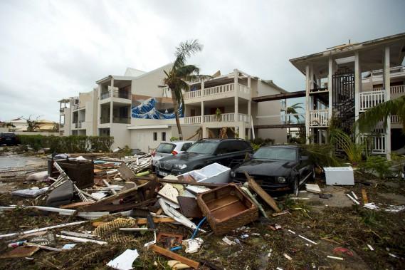 L'hôtel Mercure à Marigot, sur l'île de Saint-Martin, a subi de lourds dommages. (AFP, Lionel CHAMOISEAU)