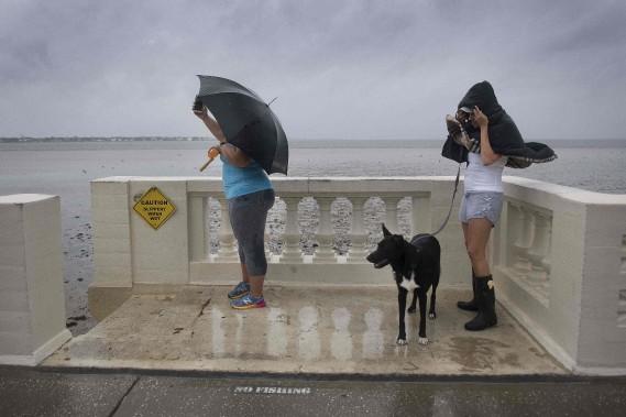 Une promenade venteuse sur le Bayshore Boulevard, à Tampa. (AFP)