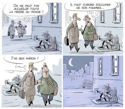 Caricature du 11 septembre (Le Soleil, André-Philippe Côté)