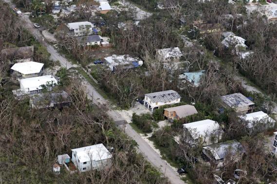 Paysage dévasté à la suite du passage de l'ouragan à Key Largo, Floride - (AP, Wilfredo Lee)
