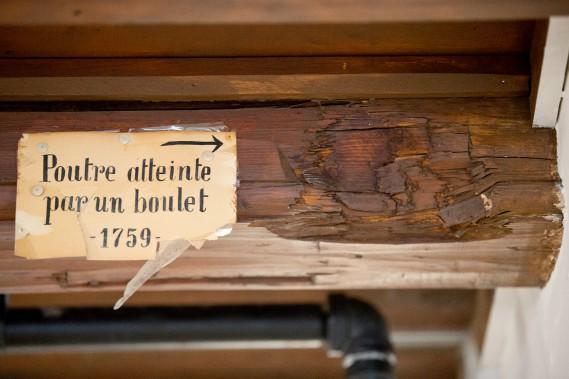 Malgré ce boulet décoché en 1759, Wolfe mourut sur les Plaines et n'eut jamais l'occasion de passer un vendredi soir sur la Grande Allée. (La Presse)