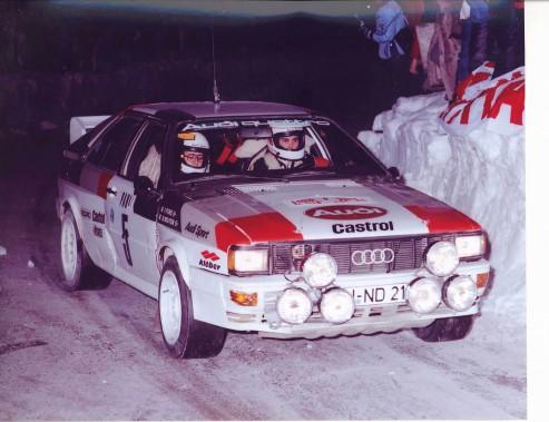 L'Audi de Michèle Mouton, lorsqu'elle était pilote d'usine chez Audi et pilote de l'écurie de rallye Audi durant les années 80. (Audi Sport)