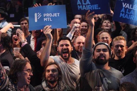 ...Et voilà, Valérie Plante est élue mairesse de Montréal. (Photo Martin Chamberland, La Presse)