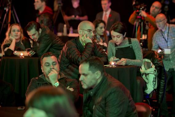 Fin de soirée difficile au théâtre Olympia. (PHOTO DAVID BOILY, LA PRESSE)