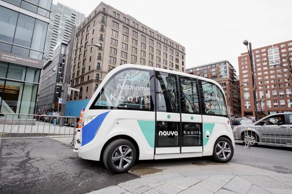 Le véhicule Navya le plus connu au Québec est la navette autonome Navya, qui a été mise à l'essai à Montréal, entre autres, dans le cadre du Sommet de l'Union internationale des transports publics en mai dernier. (Alain Roberge, La Presse)