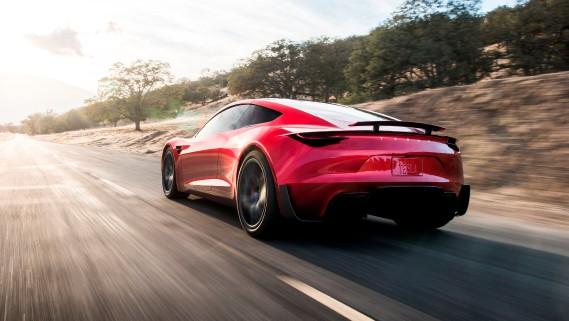 Le Roadster 2, tel que représenté dans cette photo générée par ordinateur par Tesla. (Tesla via REUTERS)