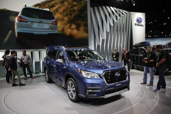 Grosse calandre, derrière substantiel : Le nouveau VUS à trois rangées de siège Subaru Ascent 2019. (AP)