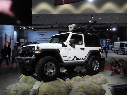 Le Jeep Wrangler nouveau en version plein air. (Éric Lefrançois)