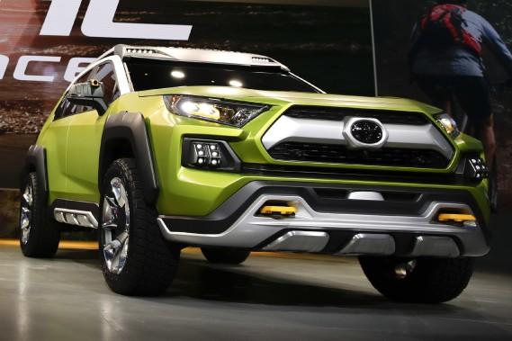 Le prototype FT-AC. Son nom est fait des initiales de<em>Future Toyota Adventure Concept.</em>Il vise à voler des ventes de véhicules à Jeep. (Photo : AP)