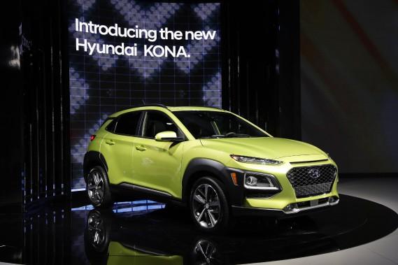 Le Hyundai Kona au Salon de l'auto de Los Angeles. (AP)